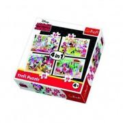 Trefl Puzzle 4 u 1 Minnie (12-343150)