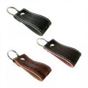 Unique Leder Schlüsselanhänger mit Kontrastnaht