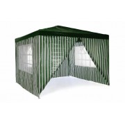 Kerti party sátor 3x3 m - sötétzöld
