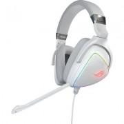 Геймърски слушалки ASUS ROG Delta Hi-Res ESS Quad-DAC, Aura Sync, Бял