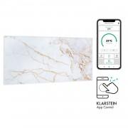 Klarstein Wonderwall Air Art Smart, инфрачервен нагревател, 120 х 60 см, 700 W, приложение, мрамор 1 (HTR10-WdwlS700wMarbl)