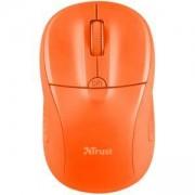 Безжична мишка TRUST Primo, Wireless, 1000-1600 DPI, Оранжева, 21925