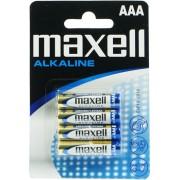 Baterii alcaline MAXELL, LR3/AAA, 4 buc/set