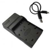cargador de bateria de la camara movil 10L micro USB para Canon - negro