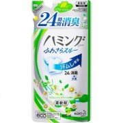 KAO «Hamming Fine refresh Green» Кондиционер для белья с защитой от возникновения неприятного запаха, с ароматом свежесобранных трав, 480 мл, сменная упаковка.