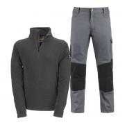 KAPRIOL Set Pantalone Kavir E Pile Taglia L Colore Grigio Nero