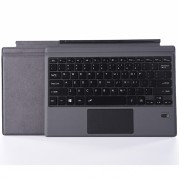 Ultra-Slim PU Leather Magnetic Wireless Bluetooth Keyboard with Trackpad for Surface Pro 6 / 5 / 4 / 3 - Dark Grey