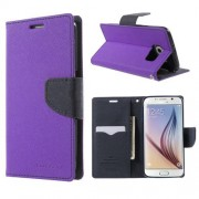 Korean Mercury Fancy Diary Wallet Case for Samsung Galaxy S6 Edge Plus Purple