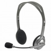 Fejhallgató, mikrofonnal, LOGITECH H110, fekete (LGFH110)