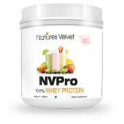 Natures Velvet Lifecare NVPRO 100 Whey Protein 400gms Natural and Vegetarian