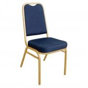 Bolero banketstoel met vierkante rugleuning blauw (4 stuks) - 4