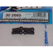 XRay 302665 Version2, 4.9mm ball joint. Closed with hole (4)