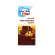 Ciocolata Neagra cu Alune Intregi Fara Zahar Karelea 150gr