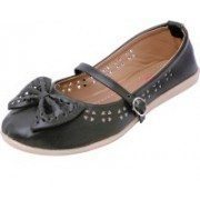 Footrendz Ethnic Bow Touch Bellies For Women(Black)
