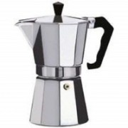 Okayji Aluminum Espresso Coffeemaker 2-Cup, 1- Piece Personal Coffee Maker(Silver)