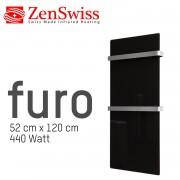 ZenSwiss furo Handtuchtrockner 52 x 120 cm (Matt Schwarz)