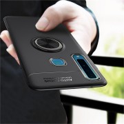 C-KU Protective Case For Samsung Galaxy A9 2018 360 Rotating Ring Grip Kicktand Back Cover
