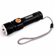 WOSAWE BCD-412 T6 USB recargable 3-modo bicicleta linterna con clip