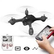 ZLMI Drone RC, HD Fotografía Aérea Avión con Cámara WiFi FPV Tránsito Modo Sin Cabeza Aviones Trayectoria Vuelo Quadcopter Drones Juguetes para Niños Regalo