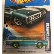 2011 Hot Wheels 71 Dodge Charger Teal #108/244