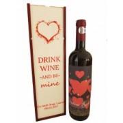 Cutie de vin plus sticla de vin personalizate