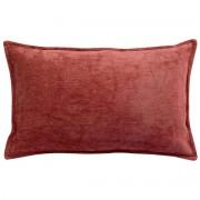 Miliboo Coussin en velours rouge tomette 30 x 50 cm ALOU