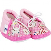 Neska Moda Baby Boys And Girls Pink Anti Slip Booties For 0 To 12 Months BT287