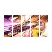 Set Tablouri Multicanvas 5 Piese Abstract - 90 x 150 cm
