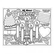 "Fun Express Paper Color Your Own ""All About the Advent"" Posters"