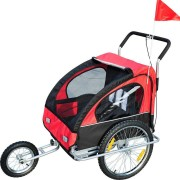 Homcom Przyczepa Do Roweru Jogger 2 W 1 Czerwona