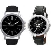 Jack Klein Combo of Round Dial Elegant Analog Wrist Watches For Men