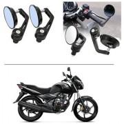 AutoStark 7/8 22cm Motorcycle Rear View Mirrors Handlebar Bar End Mirrors - Honda CB Unicorn
