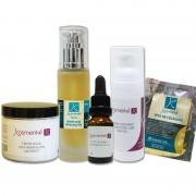 Tratamiento Cosmético Antiedad Intensivo Kosmetiké: Serum Tensor + Concentrado Regenerador + Crema Antiedad + Contorno de Ojos + Velo de Colágeno