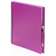 Bellatio Design Tekeningen maken schetsboek A4 roze kaft