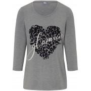 MYBC Shirt ronde hals en 3/4 mouwen MYBC grijs