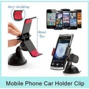 EC Universal Car Holder Mobile Phones GPS Holder Stand Car Mount For Smart Phones (Black)