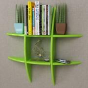 vidaXL Green MDF Floating Wall Display Shelf Book/DVD Storage