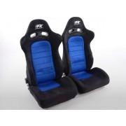 FK-Automotive siège baquet modèle Chicago (1xgauche+1xdroite) bleu/noir