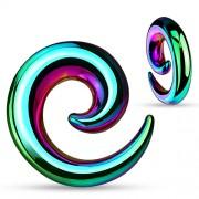 8 mm taper spiraal regenboog kleur