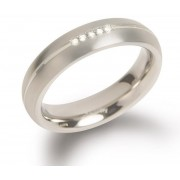 Boccia Titanium Titanový snubní prsten s diamanty 0130-03 57 mm