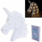 Decorazione con led a forma di unicorno in plastica led19 1273