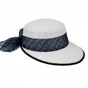 HUTTER cappello da donna con visiera larga in paglia naturale firmato Hutter