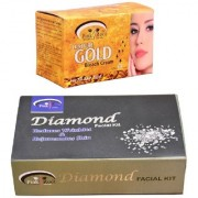 Pink Root Gold Bleach 250gm and Pink Root Diamond Facial Kit 83gm