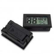 Termometru Digital Negru cu Higrometru