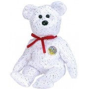 TY Beanie Baby - DECADE the Bear (White Version)