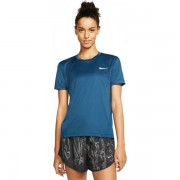 Nike Miler SS Top Women - Female - Blauw - Grootte: Small