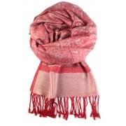 Roma luxusní šála - pašmína červená