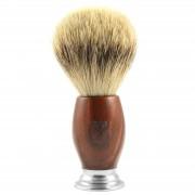 Titan Dachshaar-Rasierpinsel mit Griff aus Roteiche