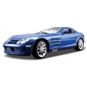 Mercedes Benz Slr Mc Laren, Blue Maisto Premiere 36653 1/18 Scale Diecast Model Toy Car