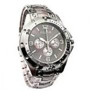 BEST Rosra Round Dial Silver Metal Strap Mens Quartz Watch
